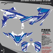 Yfz450r Graphics 2014-newer Dfr Df Edition White Blue Sides Fenders