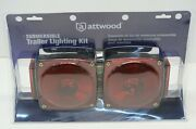 Attwood Submersible Trailer Lighting Kit W License Plate Holder And Wire Kit New
