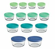 Anchor Hocking Round Food Storage Containers With Plastic Lids Mixed Sizes