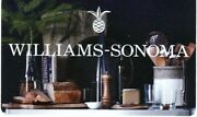 Williams Sonoma Pineapple Logo Kitchen Wares High End Cookware 2016 Gift Card