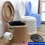 Portable Toilet Seat Travel Camping Hiking Outdoor Indoor Potty 5 Color