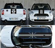 Union Jack Stripe Kit Sticker Decal Hood Trunk Roof For Mini Cooper Coutryman