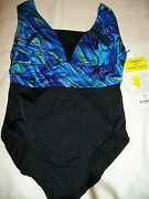 Ladies Misses Womens Size 8 One Piece Swimsuit Bathing Suit By Longitude Nwt