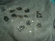 White Faux Pearl Beads W/ Silver Tone Stations Of The Cross Rosary Nib