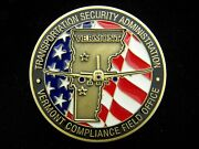 Tsa Transportation Security Administration Vermont Compliance Off Challenge Coin