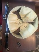 Ww1 German M16 Helmet Liner With Pillows Split Pins And Chinstrap Size 68