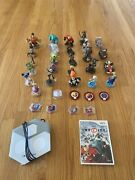 Disney Infinity 1.0 Characters Lot. 37 Pieces Including Game And Portal For Wii.