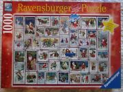 Euc, Ravensburger Christmas Wishes Stamps Victorian Jigsaw Puzzle 1000, Limited