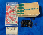 Vintage Penn Jigmaster 500 Conventional Reel W/ Newell Bars Works Great Smooth