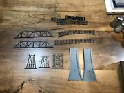 Large Lot Of Vintage Model Train Railroad Tracks And Accessories Curved Straight