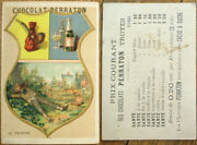 Chocolate/chocolat Perraton 1880s French Victorian Trade Card Absinthe Bottle