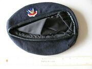 Older U.s. Air Force Tactical Air Command Beret With Metal Badge Nice