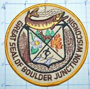 Boulder Junction Wisconsin Great Seal Fishing Hunting Skiing Musky Patch