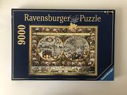 9000 Pieces Jigsaw Puzzle Ravensburger Big World Map 1611 Very Rare Puzzle