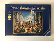 9000 Pieces Jigsaw Puzzle Ravensburger The Wedding Feast At Cana Rare Puzzle
