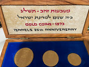 Gold Coins Israel 25th Anniversary 1973 57.5g .900 Gold Total