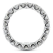 2ct H Si1 Round Earth Mined Certified Diamonds 14k Gold Classic Eternity Band