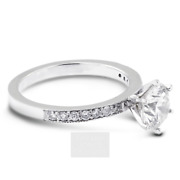 1.87ct H-si2 Round Natural Certified Diamonds 18k Gold Classic Side-stone Ring