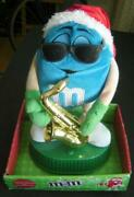 Blue M And M Musical Animation Rock Around The Christmas Tree Santa Hat Sax Works