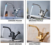 Kitchen Faucets Dual Spout Pull Out Kitchen Tap With Spray Kitchen Water Taps