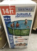 ✅🔥bestway 14and039 X 48 Steel Pro Max Above Ground Frame Pool Set Camo🔥✅