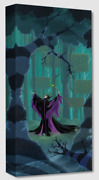 Disney Fine Art Treasures On Canvas Collection Maleficent Summons The Power