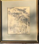 Vintage Wpa Style Ny Railroad Drawing By E Mario Granville 1905-1969