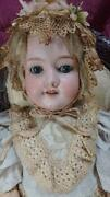 Bisque Doll Antique Doll Almond Marcel Made In Germany Antique Shipping From Jpn