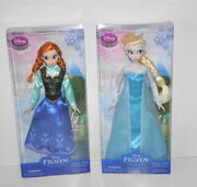 Disney Frozen Classic Doll Collection Elsa And Anna From The First Movie New