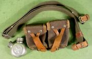 Russian Dog Collar Green Web Sling Mosin Nagant W/ Oiler And Ammo Pouch Soviet