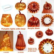 Ki Store Glass Pumpkin With Lights And Timer Set Of 3 Lighted Mercury Glass Pump