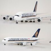 Large Singapore Airlines Airbus A380-800 Diecast Collectible Model Aircraft 18
