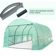 Greenhouse 20x10x7ft Steel Structure Walk-in Hot Green House Plant Gardening
