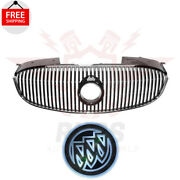 New Grille Black And Chrome And Free Led Car Tail Logo For 2006-2008 Buick Lucerne