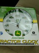 John Deere Tractor Clock With Authentic Tractor Sounds Heard Hourly - New In Box
