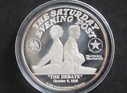 1988 Norman Rockwell The Debate 2 Troy Oz. Silver Round D8201
