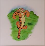 Disney Winnie The Pooh-tigger Original Concept Painting Signed By Allyson Vought
