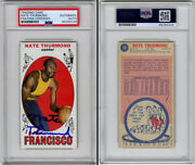 Nate Thurmond Signed 1969 Rookie Card Golden State Warriors Psa/dna Autographed