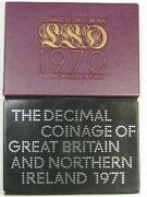2 Proof Sets 1970 And 1971 Great Britain And Northern Ireland. 36