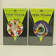 New Sealed Dc Comics The Silver Age Teen Titans Archives Vol. 1 And 2 Hardcover Gn