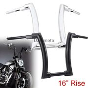 Black/chrome 16and039and039 Rise Ape Hanger Handlebar Fit For Harley Davision Road Glide