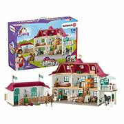 Schleich Horse Club 70-piece Lakeside Country Dollhouse And Horse Stable Play...