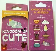 Disney Collectible Pin Pack Kingdom Of Cute Mystery Box Of 2 Pins Sealed New