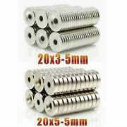 Neodymium Magnet 5-300pc Disc 20x3mm 20x5mm Hole 5mm N35 Powerful Strong Magnets