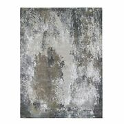 9and039x12and0392 Denser Weave Farsian Knot Wool And Silk Hand Knotted Rug R66468