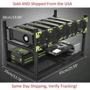 6 Gpu Mining Rig Frame Stackable   Newest Ver 4.0 Frame   Usa Sold And Shipped