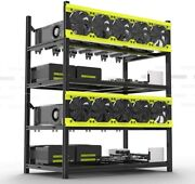 6 Gpu Mining Rig Frame Stackable | Newest Ver 4.0 Frame | Usa Sold And Shipped