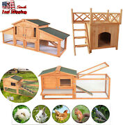 71 62 20 Wooden Small Animal House House Rabbit Hutch Chicken Coop Dog House