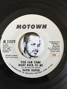Northern Soul Detroit Motown Music Records You Can Come Right Back David Ruffin