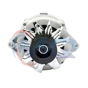 Adr0183 New Alternator Tractor And Chevy 10si 1-wire One 2 Groove Pulley 63amp 12v